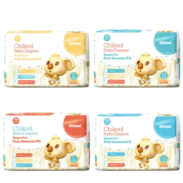Chikool Baby Diaper Size S 28 Count For Under 15lb Baby Breathable Dry Disposable Diapers Nappy