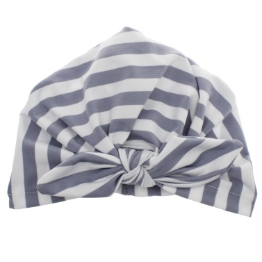 Gestreifte Bowknot Babymütze Mütze