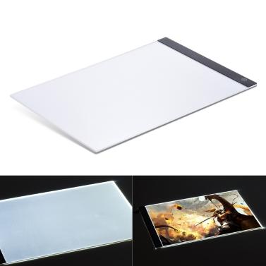 A4 ultradünne tragbare LED Light Box Zeichnung Tracer Tabelle Malerei Tracing Pad Copy Board Panel mit stufenlosen Dimmable Helligkeit Memory-Funktion für Künstler Animation Röntgenstrahl Betrachtung Tattoo skizzieren Architektur Kalligraphie Schablonieren