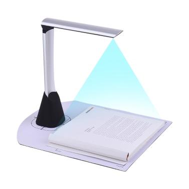 Escáner de cámara de documentos de imagen de libro USB de alta velocidad portátil