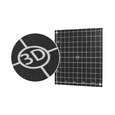 220 * 220mm Wärme Bett Aufkleber Blatt Hot Bed Platform Build Oberfläche Band mit 1: 1 koordinate für 3D Drucker Anet A6 / A8
