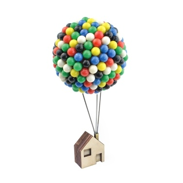 350pcs Ballon Pin House Colorful Pins With Wood Base Handcrafts Diy Gift