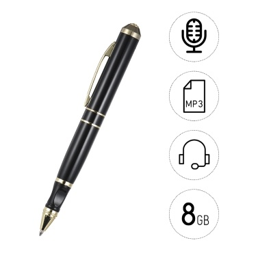 8GB Voice Recorder Pen USB Cable Rechargeable Pen Can Write