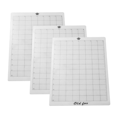 OLD FOX Replacement Cutting Mat Transparent Adhesive Mat with Measuring Grid 8 by 12-Inch for Silhouette Cameo Cricut Explore Plotter Machine, 1pcs