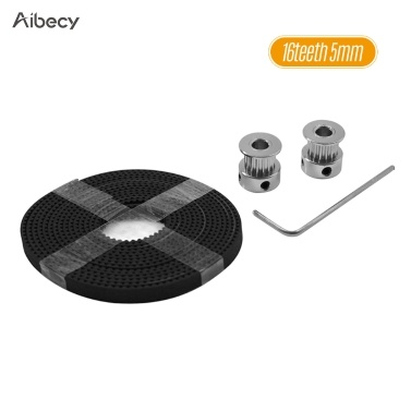 Aibecy 3D Printer Tool Kit 16 Zähne 20 Zähne Timing Alumiun Riemenscheibenräder 2 Meter Timing GT2 Gürtel Inbusschlüssel Zubehörteile Suite für 3D-Drucker