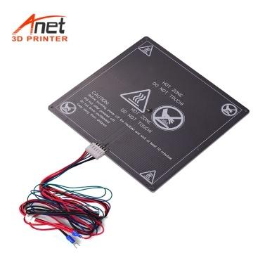 Anet 3D Drucker Warmbett Grundplatte Heizung Plattform Heizbett Aluminiumplatte Größe 220 * 220 * 3mm mit Kabel Heißbett Draht für Anet A8 A6 A2 TRONXY P802M 3D Drucker Upgrade Lieferanten 12 V (1 stücke)