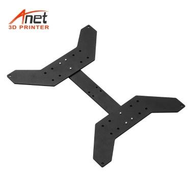Anet Aluminiumlegierung Y Wagenplatte Upgrade Feste Platte 3D-Drucker Zubehör zur Befestigung Heizplattform Heizbett für Anet A8 Plus Hotbed Support Beheiztes Bett