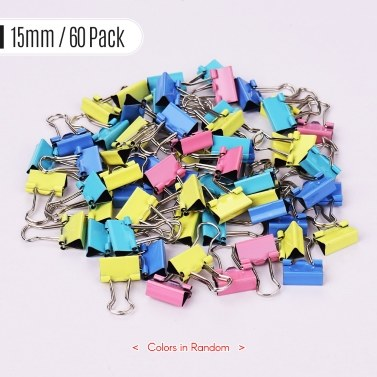 60pcs Binder Clips Paper Clamps