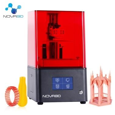 NOVA3D Bene4 LCD 3D-Drucker Verbesserte UV-Lichtquelle mit 4,3-Zoll-Smart-Touchscreen 2K Hochauflösender Stummschaltungsdruck Automatisches Nivellieren Offline-Druck 5,1 * 2,8 * 5,9 Druckgröße Metallgehäuse und WLAN- / Ethernet-Verbindung