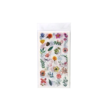Flower Plants Sticker Self-Adhesive Decoration Stickers Washi Japanese Sticker 6 Sheets/Pack