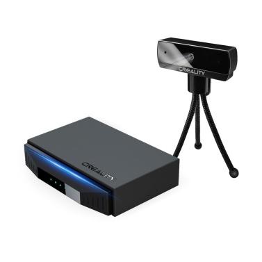 Original Creality 3D-Druckermonitor Smart WiFi Box mit Kamera HD 1080P Fernbedienung Intelligenter Assistent für 3D-Drucker Cloud Slice Cloud Print Echtzeitmonitor mit APP 8G TF-Karte Kompatibel mit den meisten Creality 3D-Druckern CR-10 Ender-3 Ender-6