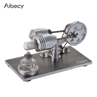 Aibecy Mini Hot Air Stirling Engine Motor Model Heat Power Electricity Generator Mchine with LED Light