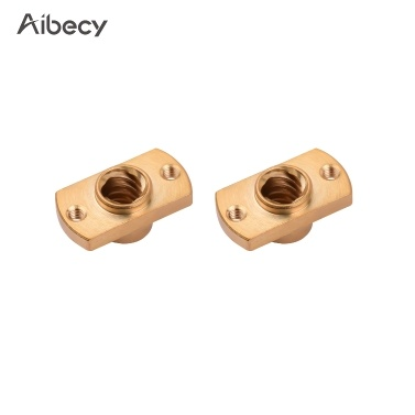 Aibecy 1pc T8 Screw Nut Brass T-Shape Nut 8mm Inner Diameter Compatible with CR-10/Ender Series 3D Printers(Gold , 1pcs)