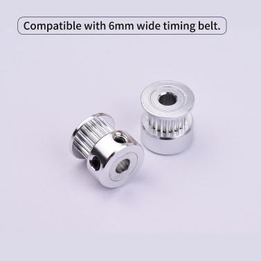 Aibecy 1pc 2GT Synchronous Pulley Gear Wheel 20 Teeth 5mm Aluminum Bore