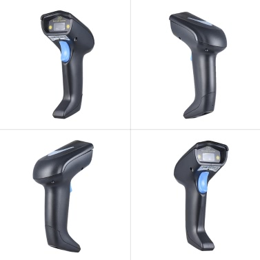 2.4G Wireless Cordless Handheld 1D 2D QR Barcode Bar Code Scanner Reader with Receiver