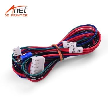 Anet 18AWG Upgrade Kabel für beheizte Betten Hot Bed Line Drahtlänge 90 cm / 35,4 Zoll für Anet Anet A8 A6 A2 A3 E12 E10 3D Drucker Upgrade Lieferanten