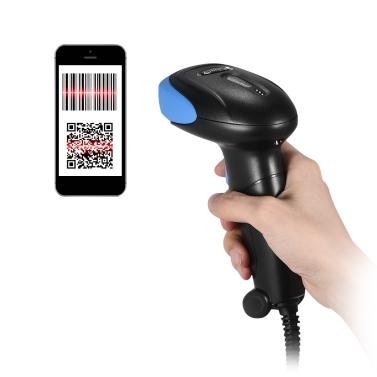 Aibecy Handheld 2D / QR / 1D Barcode Scanner Barcode Reader 1600 mal / s 32-bit Decoder mit USB Kabel für Supermarkt Lagerhaus