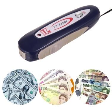 2 In 1 Tragbarer Mini-Gelddetektor Falschgeld-Banknotenprüfer mit magnetischem und UV-Licht für USD EURO POUND