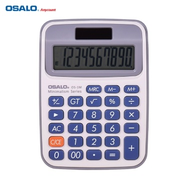 OSALO tragbarer kleiner elektronischer Tischrechner mit 10-stelligem großem LCD-Display Dual Power Solar & batteriebetrieben für das Home Office der Business School