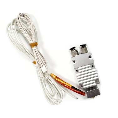 TRONXY 2 in 1 Out Dual Color Hotend Extruder Kit with Heater Wire Thermistor 0.4mm Brass Nozzle 24V for TRONXY 2E Model 3D Printer