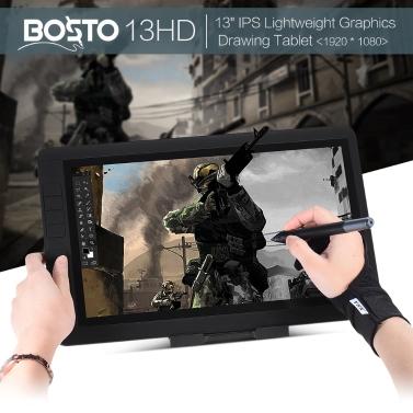 "BOSTO 13HD 13"" IPS 1920 * 1080 Graphics Drawing Tablet Board Kit"