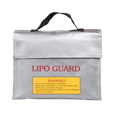 Handheld Fireproof Explosionproof Lipo Battery Safe Bag Portable Heat Resistant Pouch Sack for Battery Charge & Storage 240 * 180 * 65mm