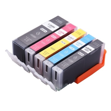 Aibecy Compatible Ink Cartridge Replacement for 280 281 PGI-280XXL CLI-281XXL High Yield Compatible with Canon Pixma TR7520 TR8520 TS6120 TS8120 TS9120 Printer 5-Pack (1 PGBK, 1 Black, 1 Cyan, 1 Magenta, 1 Yellow)