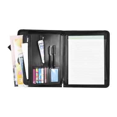 Zippered Multifunktionale A4 Portfolio Professionelle Padfolio Datei Organizer mit Schreibblock Card Taschen für Geschäftsleute Manager Sales Studenten