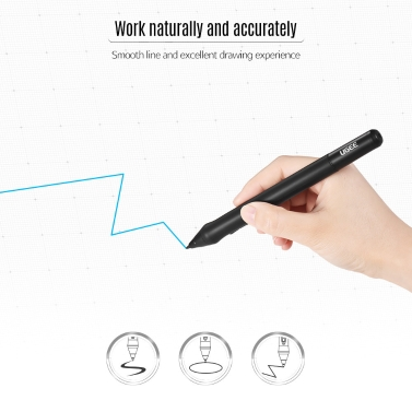 UGEE P50ST Rechargeable Stylus Drawing Tablet Pressure Pen with USB  Charging Cable for M708/ G3/ G5/ EX07/ CV720 Tablet (Black)
