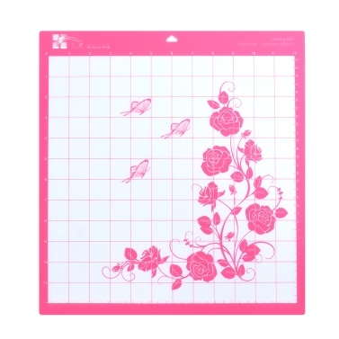 Replacement Cutting Mat Standard Grip Adhesive Mat 12-inch by 12-inch Cutting Area with Measuring Grid for Silhouette Cameo Cutting Plotter Machine