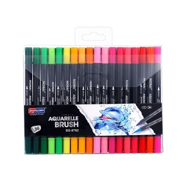 SKYGLORY Dual Tips Pinsel Art Marker Stifte Set