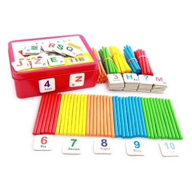 Kinder Arithmetik Stick Holz Zählstäbe Stangen Mathe Lernspielzeug