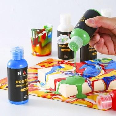 H&B 6 Colors Fabric Paint Set Kit