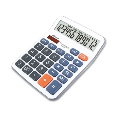 OSALO 12-Digit LCD Desktop Calculator Solar-powered and Battery-powered Tool Gift for Office  Home Store