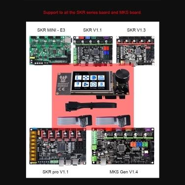 BIGTREETECH TFT24 V1.1 Touchscreen-Display 2 Arbeitsmodi mit kabelkompatiblen 12864LCD 3D-Druckerteilen für Ender 3 SKR V1.3 MKS Motherboard