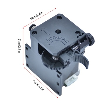Tronxy 3D Upgrade Parts Assembled Titan Extruder Kit with Stepper Motor and Wire Support Print Soft Filament Compatible with X5SAPRO/X5SA-400/D01/X5SA-400PRO/X5SA-500 3D Printer