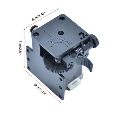 Zusammengebautes Titan-Extruder-Kit für Tronxy 3D-Upgrade-Teile mit Schrittmotor und Kabelunterstützung Weiches Filament drucken Kompatibel mit X5SAPRO / X5SA-400 / D01 / X5SA-400PRO / X5SA-500 3D-Drucker
