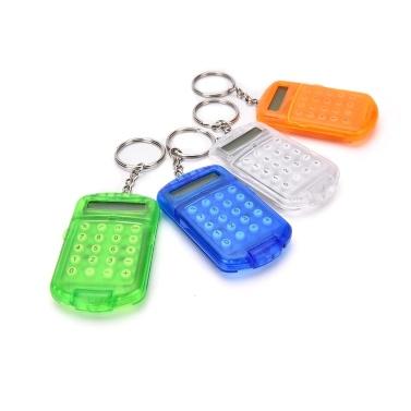 Mini-Rechner mit Schlüsselbund 8-stelliges Display Kunststoffgehäuse Tragbarer Taschenrechner