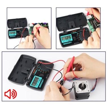 Mini Pocket Digital Multimeter Tester Manueller Bereich DMM DC / AC-Spannung / DC-Stromverstärker / Ohm / Diode und Durchgangsprüf-Messgerät