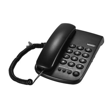 Bewegliches schnurgebundenes Telefon-Telefon pausiert / Wahlwiederholung / Blitz / stummes mechanisches Verschluss-Wand-einbaubares Basis-Hörer für Haus-Home Call-Center-Büro-Firmen-Hotel