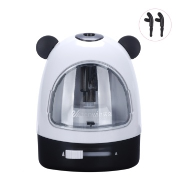 tenwin Small Durable Electric Pencil Sharpener Sharpness-adjustment Battery Operated Fast Sharpen with Replaceable Blade