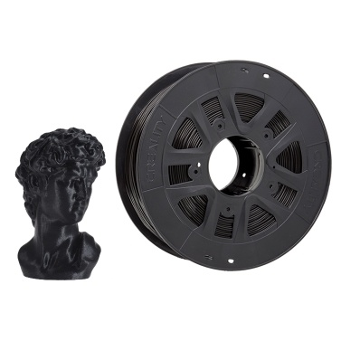 Creality 3D Printer PLA Filament 1.75mm 1kg/2.2lbs Filament Dimensional Accuracy +/- 0.02 mm, Black