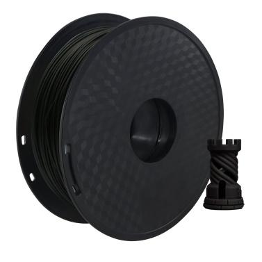 Filamento per stampante 3D PLA Aibecy 1.75 mm Precisione dimensionale +/- 0,02 mm Bobina da 1 kg (2,2 libbre), nero