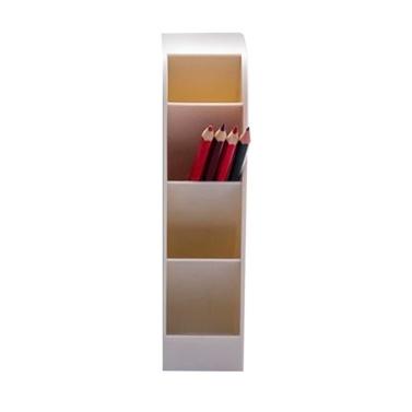 1pc Desk Organizer 4 Fächer Mode Mutifunktionaler Stifthalter Bleistift Make-up Aufbewahrungsbox Robustes PP-Material