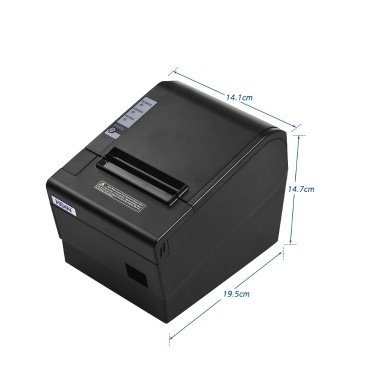HOIN 80mm USB Thermal Receipt POS Printer Auto Cutter High Speed Printer Clear Printing Compatible with ESC/POS Print Commands for Supermarket Store Home Business