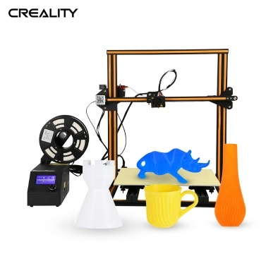 Creality 3D CR-10 S4 Hochpräziser DIY i3 3D-Selbstmontagedrucker Einfach zu montierender Filament-Rundlauferkennungs-Wiederaufnahmedruckfunktion Druckgröße 400 * 400 * 400 mm