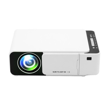 Mini Home Theater Projector 1080P Supported 170 Inch Display Built-in Speaker with HD/AV/USB/VGA Interface Portable Video Movie Projector for Home Entertainment Gaming