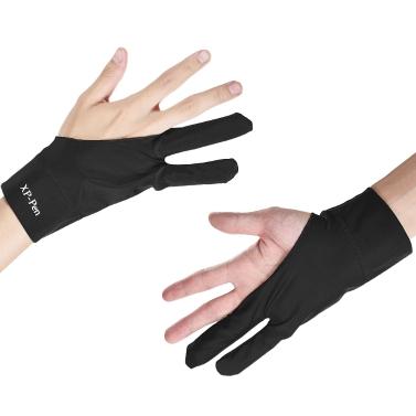 XP-PEN Artist Tablet Zeichnungshandschuh Anti-Fouling Schwarz Zwei-Finger Geeignet für Rechts-und Linkshand für Graphics Drawing Tablets