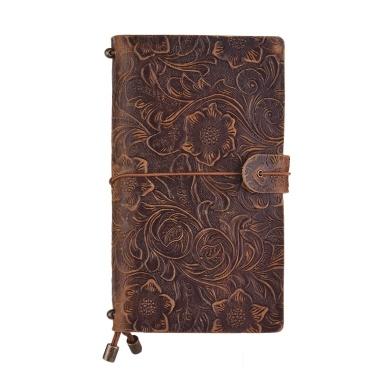 Vintage Vollnarbenleder Nachfüllbares Reisetagebuch Notizbuch