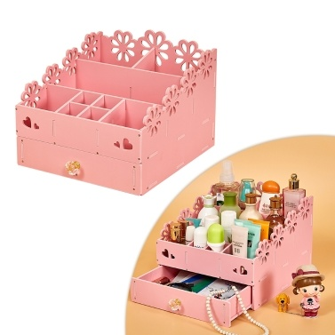 31% OFF Multifunctional Makeup Organizer Wood Cosmetic Holder,limited offer $20.99